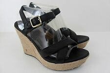 Womens Ugg Jackilyn Size 11 M Brown Leather Espadrille Wedge High Heel Shoe