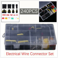240pcs Pin Car Electrical Wire Waterproof Connector Plug Terminal Fuses For Boat