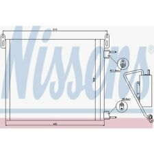 Nissens Kondensator, Klimaanlage Opel Signum,Vectra C,Vectra C 94805