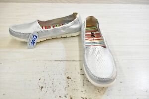 SAS Sunny Slip On Comfort Shoes, Women's Size 11M, Silver MSRP $140.95