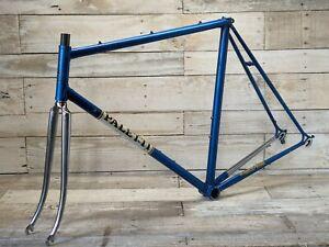 1980s 58cm Luciano Paletti Blue Chrome Port Royal Road Frame Fork Eroica