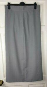 Grey Women's Long Maxi Lined Skirt Size 17