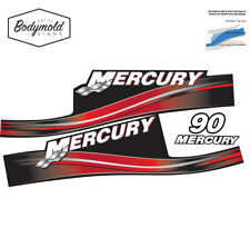 Mercury 2017 outboard decals 2 stroke 90hp red set