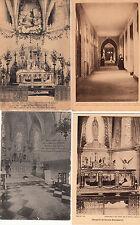 Lot 4 cartes postales anciennes NEVERS Maison-mère des soeurs de la charité