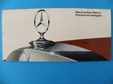 Catalogue / publicité MERCEDES-BENZ 200 , 230 , 250 , 300 , 600