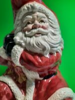 Fitz & Floyd OLD WORLD CHRISTMAS SANTA CLAUS 2 Qt Pitcher 1988 VTG Ceramic