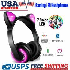 Wireless Cat Ear Headphones for Kids Girls Cute Over Ear Headsets Universal