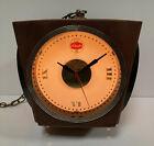 Vintage Schaefer Beer 4 Sided Rotating Hanging Lighted Advertising Clock Sign
