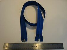 40 Inch Long Blue Nylon Tooth Separating Zipper