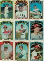 1972 Topps Baseball Card Near Set- 33 Star Cards- Mays, Aaron, Jackson EX+ to NM