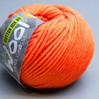 Lana Grossa McWool Cotton Mix 80 - 525 vibrant orange 50g (5.90 EUR pro 100g)