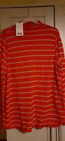 Next Red Grey Silver Stripe jumper/tunic Long Sleeve Size 18 BNWT dip hem