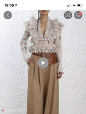 Zimmermann Style Dusty Pink Cropped Top Size Large