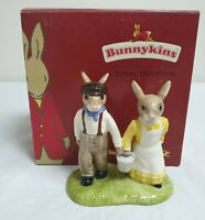 ROYAL DOULTON JACK & JILL BUNNYKINS FIGURINE / ORNAMENT - BOXED, DB22