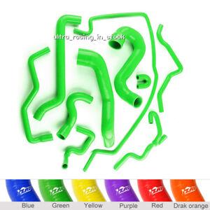 10PCS for SAAB 9-5 2.0T 2003-2007 Turbo Radiator Silicone Coolant Hoses Green