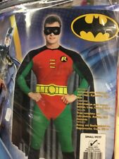 Deluxe Official Robin From Batman Adult Costume Fancy Dress Cosplay Size S Rodny