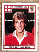 PANINI FOOTBALL 78 MANCHESTER UNITED STEWART HOUSTON NO 232 VERY GOOD CONDITION