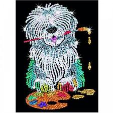 Sequin Art Pablo the Sheepdog Sparkling Crafts Picture Kit 1415