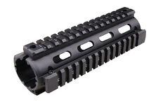 SHS Free Float 170mm Black Handguard Quad Rail System Airsoft 416 aluminum metal