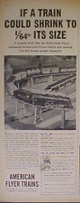 1956 AMERICAN FLYER Railroad~Train Sets Trade 1/64 Scale Vintage Kids TOY AD
