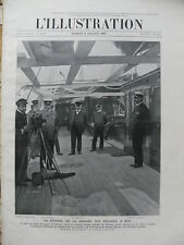 L'ILLUSTRATION 1907 N 3358 LES REGATES A KIEL