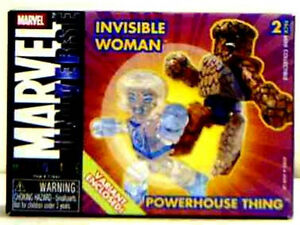 miniMates Series 8 Variant Set Thing Invisible Woman Fantastic Four Marvel