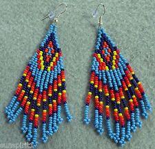 Beaded Earrings ABWEar-C4 Dangled Pierced Wire Southwestern Southwest