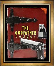 Steve Kaufman Original Sculpture The Godfather Ledger Book Signed Painting Art