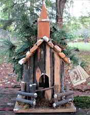 Wooden Winter Christmas Church Birdhouse from Creations by Clark