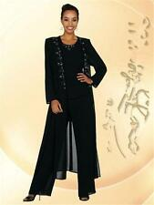 Newest Balck Beads Mother Of the Bride Groom Dresses With Pants Suits Long Sleev