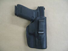 Ruger P85, P89, P95, P90 IWB Leather In Waistband Concealed Carry Holster BLACK