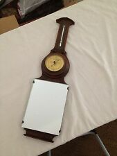 Antique Lufft Wood Oak Thermometer Barometer Mirror  22""