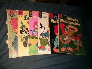 Woody Woodpecker dell 6 Issue Golden Silver Age Lot Run Set Collection comics