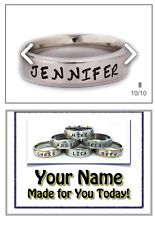 Hand Stamped  Personalized Name Ring Stainless Steel 6 mm