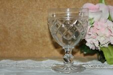 """Lovely Stuart Cut Crystal """"Victoria"""" Water Goblet 12.5 cm tall  44"""