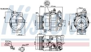 Kompressor, Klimaanlage NISSENS 890634 für MERCEDES-BENZ
