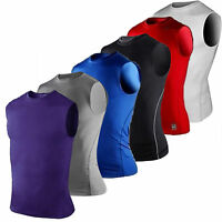 Mens Compression Sleeveless Base Layer Tank Top Workout Basketball T Shirt Vest