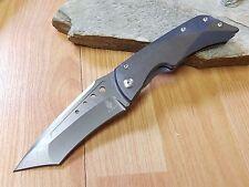 "Kizer 9"" LGM Gray Titanium Folding Knife Pocket S35VN Mod Tanto Folder EDC 4433"