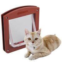 Mini Coffe Door 4 Way Locking for Cat Pets Kitty Small Dog Puppy Flap Free Going
