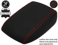 RED STITCHING ARMREST LID REAL LEATHER COVER FITS FORD FOCUS MK4 2018-2020