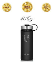 40oz Sport Water Bottles Wide Mouth Stainless Steel Double Wall Vacuum Insulated