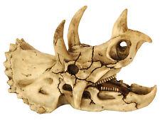 Dinosaur Skull Triceratops Aquarium Vivarium Fish Tank Ornament