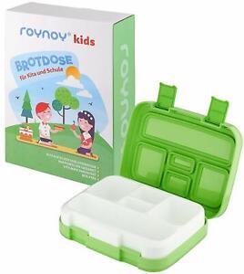 roynoy   Brotdose Kinder   mit Trennwand   Bento Box   Lunch-Box   grün