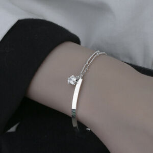 Womens Girls Kids 925 Sterling Silver Star Chain Bracelet Jewellery Bangle Gift
