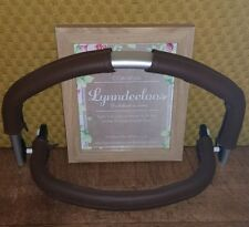 Bugaboo FROG faux leather handle bar & bumper COVERS ONLY, CURVED SHAPE Brown