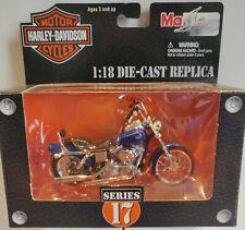 Toy Maisto Diecast 1:18 Harley 2002 FLSTF Fat Boy Series 17 Motorcycle in NIB