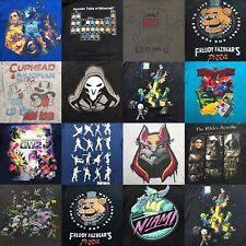 Lot of 20 Wholesale Video Game Console PC Fortnite Minecraft T-Shirt Men's 1701