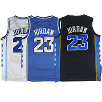 Throwback Michael Jordan #23 UNC Basketball Jersey Sports Top S M L XL XXL XXXL