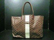 Authentic GOYARD Saint Louis PM Tote Bag Purple PVC Leather With Pouch 82454