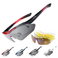 RockBros Polarized Cycling Sunglasses Goggles Eyewear Sport Glasses 5 Lenses